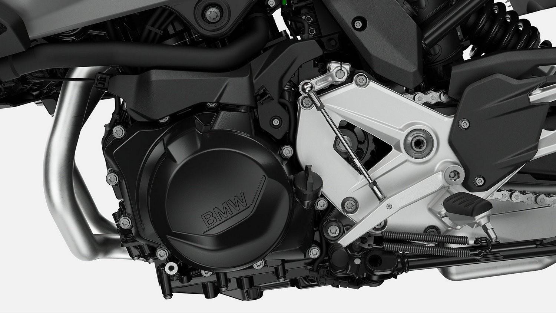 Двухцилиндровый рядный двигатель.